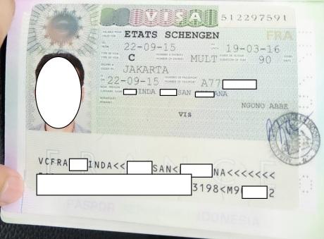 VISA Schengen France 2015 crop censcored